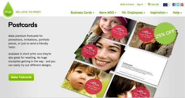 MOO | Custom Business Cards MiniCards Postcards and more | moo com