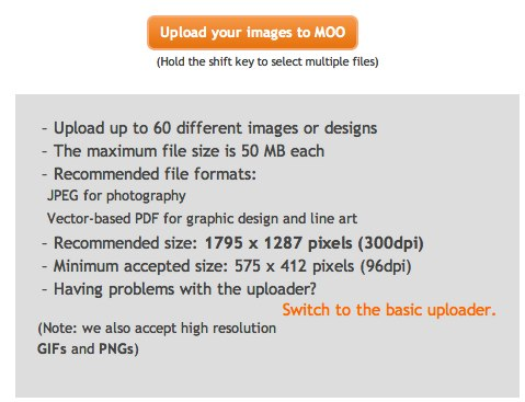 Upload images | moo com USA