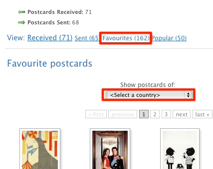 Favourite postcards
