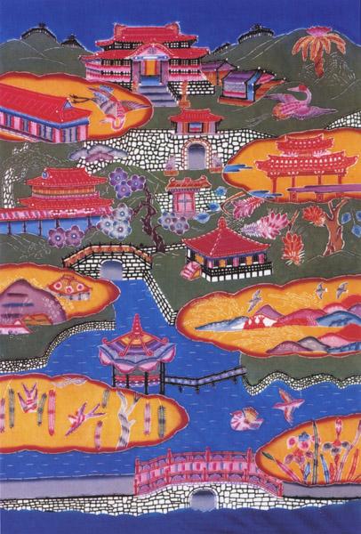Okinawa Bingata  textile 2